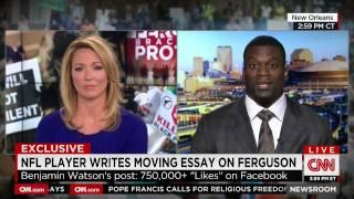 Benjamin Watson gets cut off on CNN proclaiming JESUS