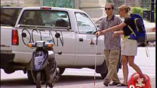 Blind Biker - funny prank