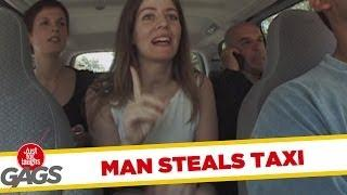 Businessman steals taxi cab - funny joke