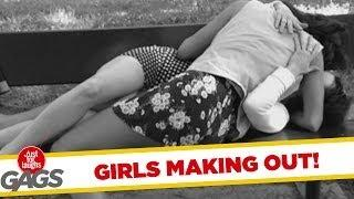 Girls Making Out On Camera - Funny Prank