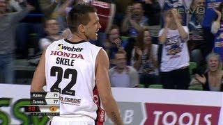 Latvian basketball player produces miracle shot