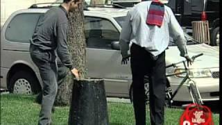 Blind man lost his cane - funny video