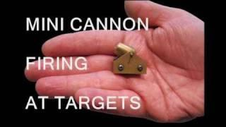 Mini Cannon Firing at Targets