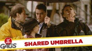 Shared Umbrella - funny prank