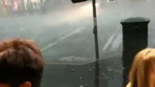 Flash Flooding Footage - Melbourne Hail Storm