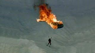 Troy Hartman's Skydiving Stunts -  Parachute on Fire