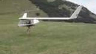 Impressive high wind footlaunched glider