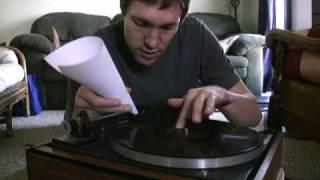 Record Player with Pin and Paper