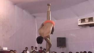 Indian Pole-Dancing Gymnastics