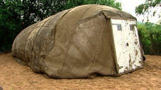 How to build concrete tent