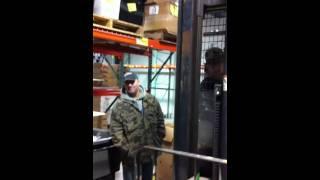 Forklift coin pickup