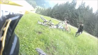 Unexpected turn while cycling downhill