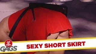 Sexy Short Skirt - Crazy Prank