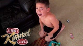 I Told My Kids I Ate All Their Halloween Candies / YouTube Challenge 2014