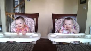 Twin-Sisters Dancing to Daddy's Guitar Song
