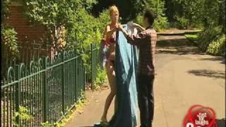 Sexy Sunbathing Nun - funny prank
