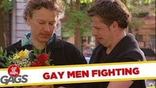 Angry gay men fighting - crazy prank