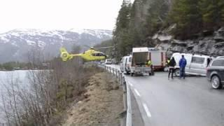 Helicopter air ambulance emergency landing
