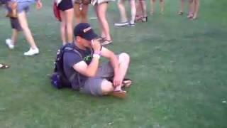 Wasted guy at Coachella 2010