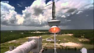 Space shuttle rocket booster test