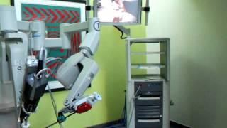 Surgical robot peeling a grape