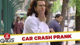 Invisible Car Crash Prank - hidden camera prank