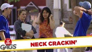 How to crack your neck like a real man - funny video