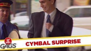 Cymbal surprise - funny joke
