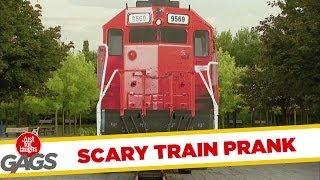 Scary Train - Funny Prank