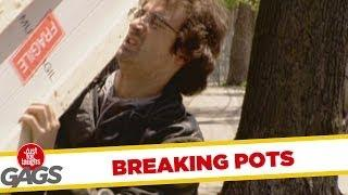 Breaking Flower Pots - Hidden Camera Prank